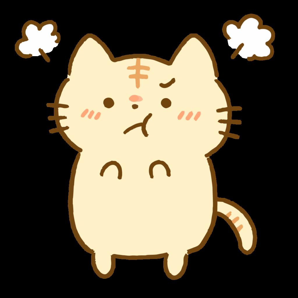 怒るトラ猫