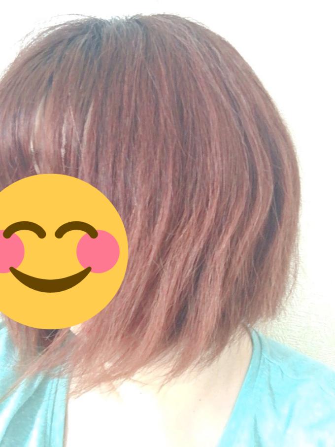 ピンク系のカラーシャンプーを使った髪