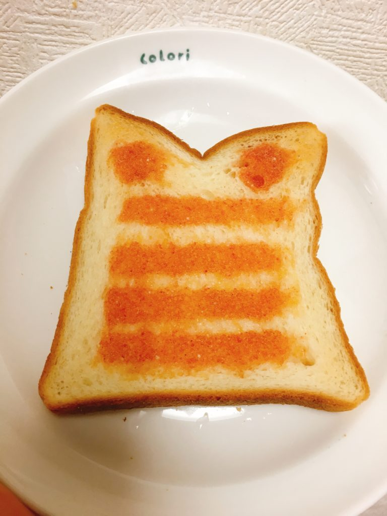 焼いた明太トースト
