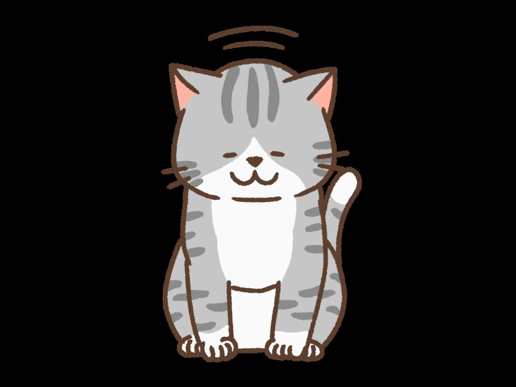 おじぎする猫